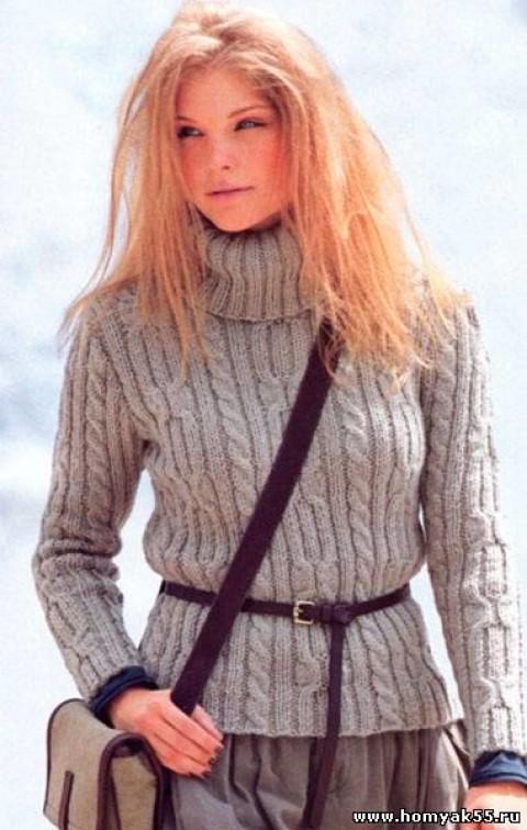 Пуловер с косами и высоким воротником</div><!-- .featured-header-image -->  <div class=