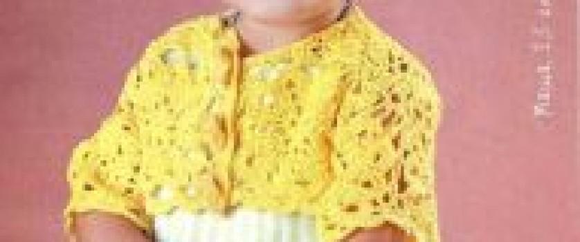 Желтое ажурное болеро