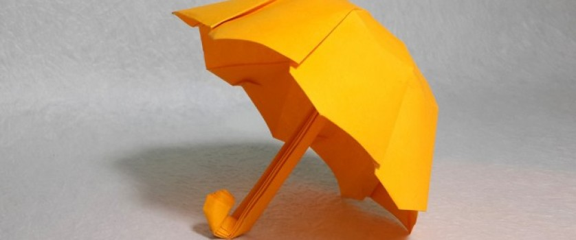 Оригами зонтик