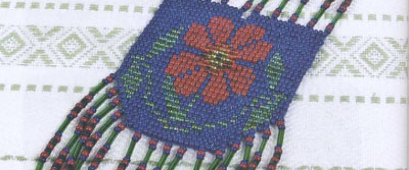 Гайтан с подвесками из бисера