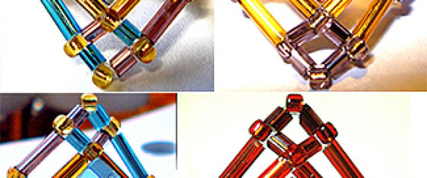 Кольцо с ромбовидным элементом