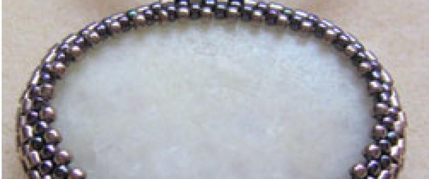 оплетение бисером камней