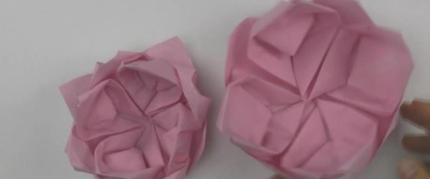 Цветок лотоса оригами