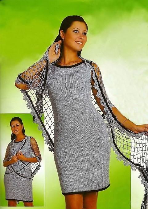 Строгое платье-сарафан и воздушная шаль</div><!-- .featured-header-image -->  <div class=