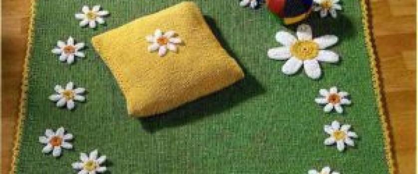 Плед-коврик с ромашками