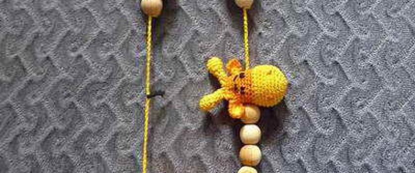 Игрушка для слингобус крючком. Вязание головы жирафа.