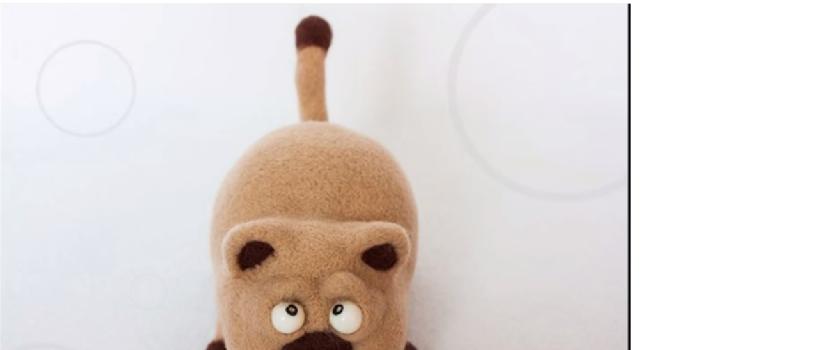 Видео мастер-класс по сухому валянию игрушки — Кот Бакс