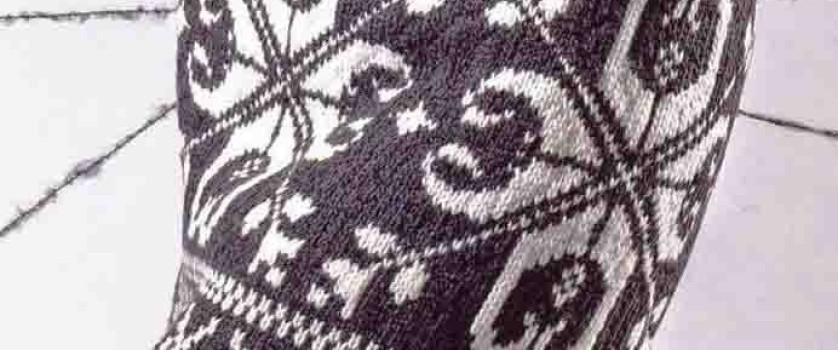 Женская юбка с норвежским узором