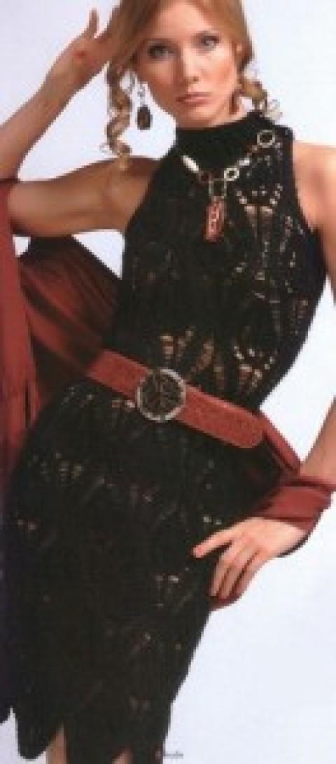 Черное платье спицами</div><!-- .featured-header-image -->  <div class=