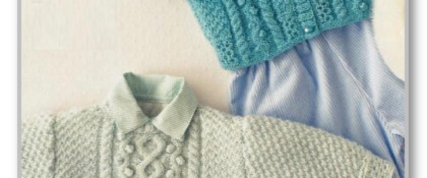 Пуловер и жакетик с рельефными узорами