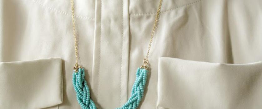 Бирюзовое летнее ожерелье