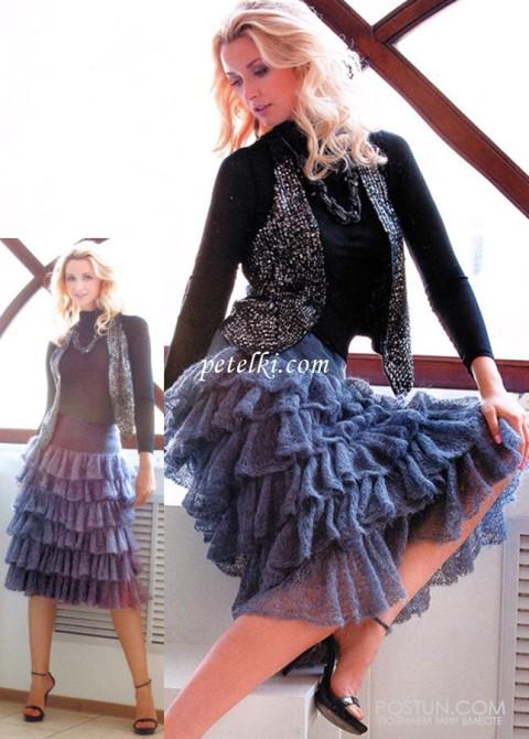 Длинная кружевная юбка из мохера с оборками</div><!-- .featured-header-image -->  <div class=