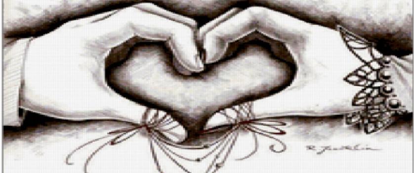 Вышивка крестом.схема «Сердечко»
