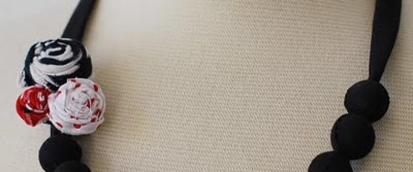 Ткань и бусины