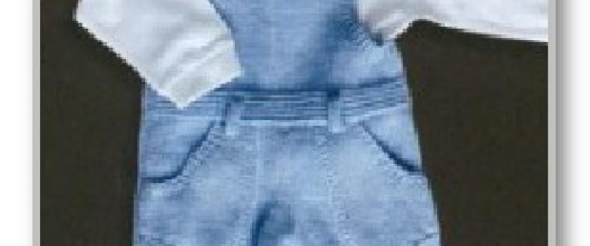 Комбинезон на бретелях, с короткими штанишками; на 6-9 месяцев