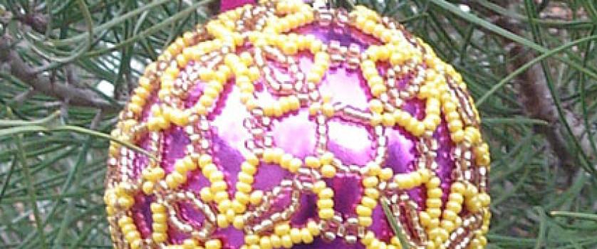 Оплетение шара цепочкой «Сандра»