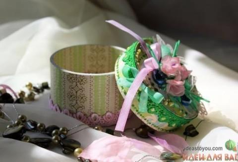 Декоративная шкатулка для украшений из бобины от скотча</div><!-- .featured-header-image -->  <div class=