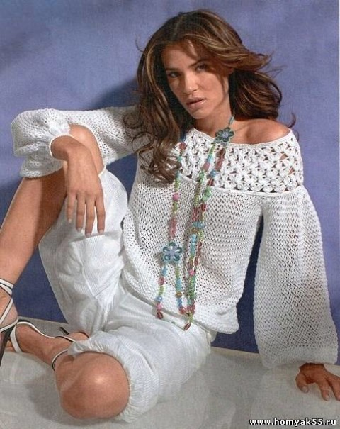 Пуловер с кружевной кокеткой</div><!-- .featured-header-image -->  <div class=