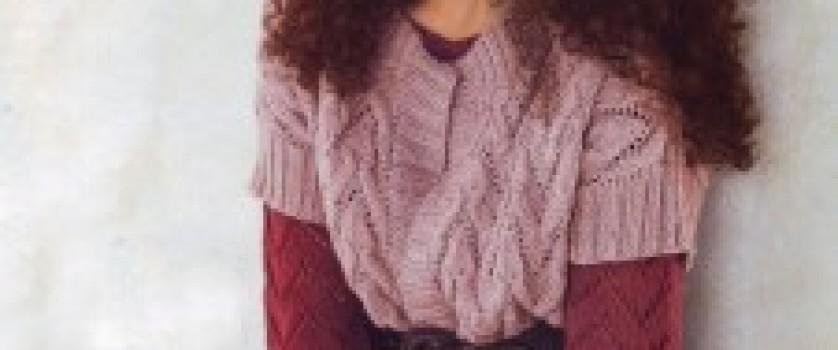 Жилет и пуловер в розовых тонах
