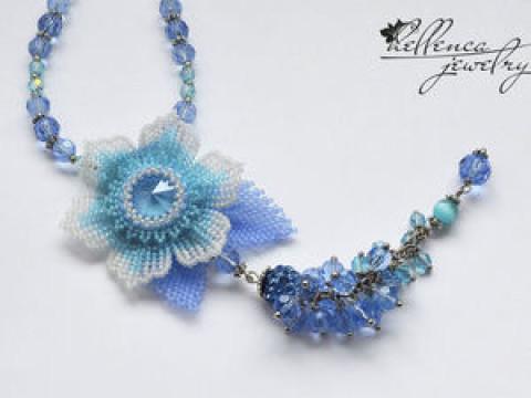 Колье с цветком «Summer Blue»</div><!-- .featured-header-image -->  <div class=