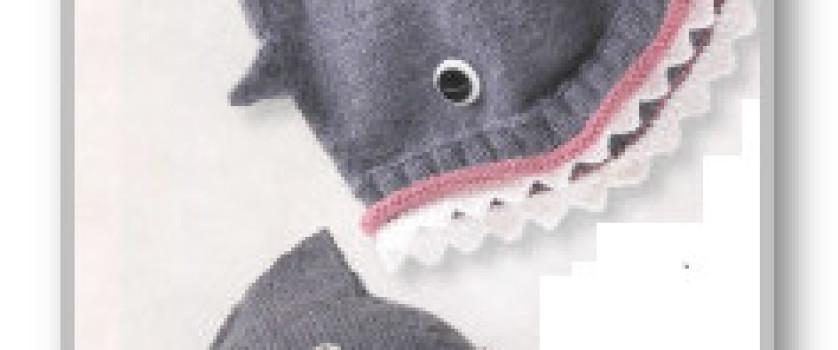 Пуловер-реглан с боковой застежкой и шапочка-Акула, для мальчика 1 (2, 3, 4) года