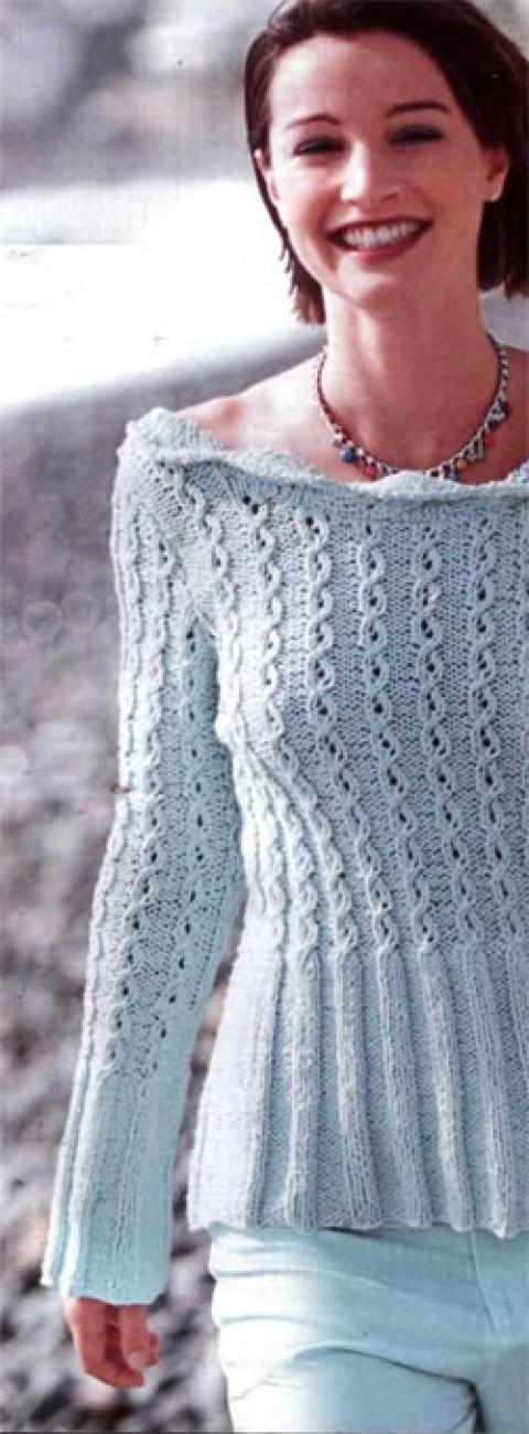 Ажурный пуловер с открытой спиной</div><!-- .featured-header-image -->  <div class=