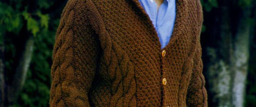 Мужской коричневый кардиган