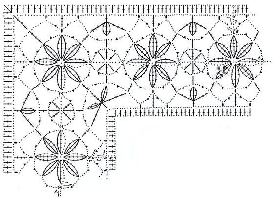 Вязание крючком плюс ткань схемы 42