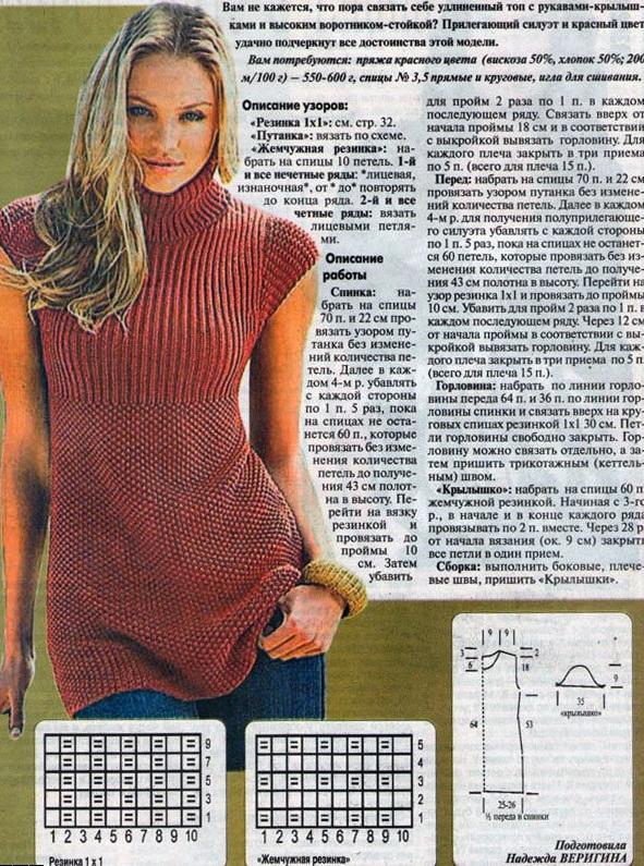Модели Вязаных Туник