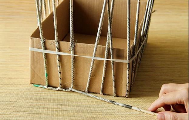 Как сделать коробки из трубочек 81